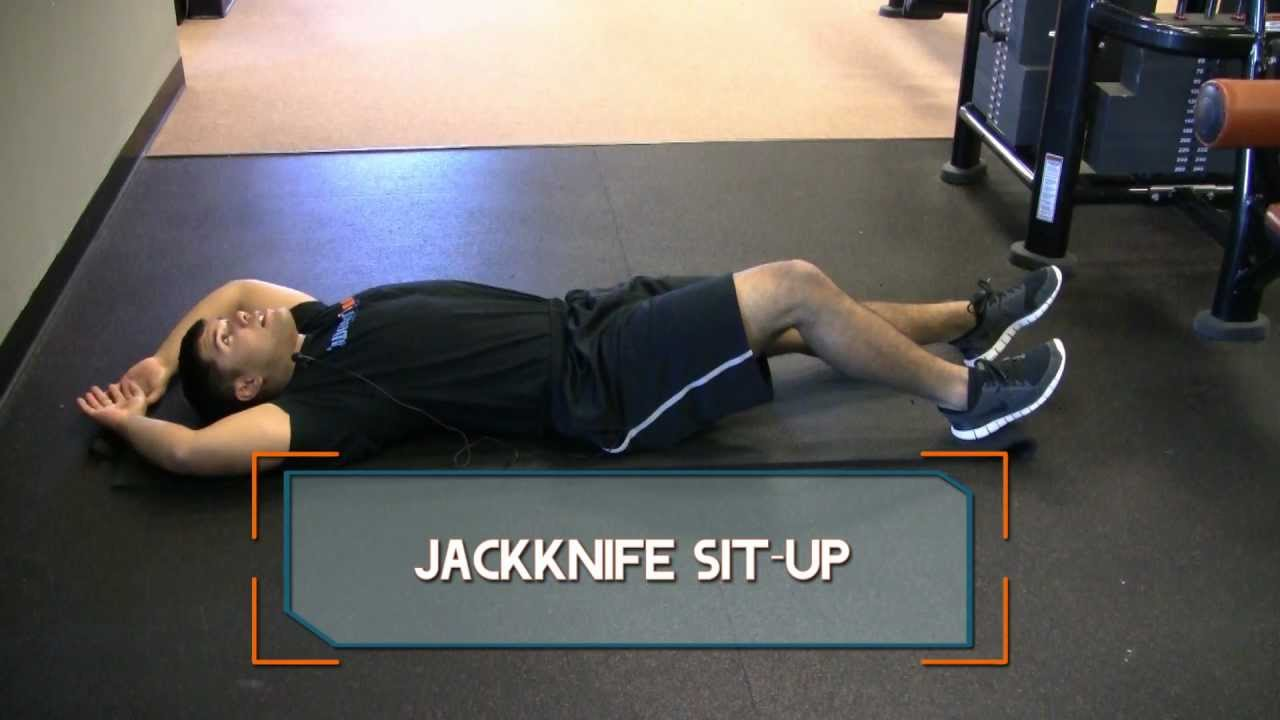 Jackknife Sit-Up - YouTube