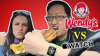 Apple Watch Unboxing & Wendy's Ghost Pepper Food Review  |  HellthyJunkFood