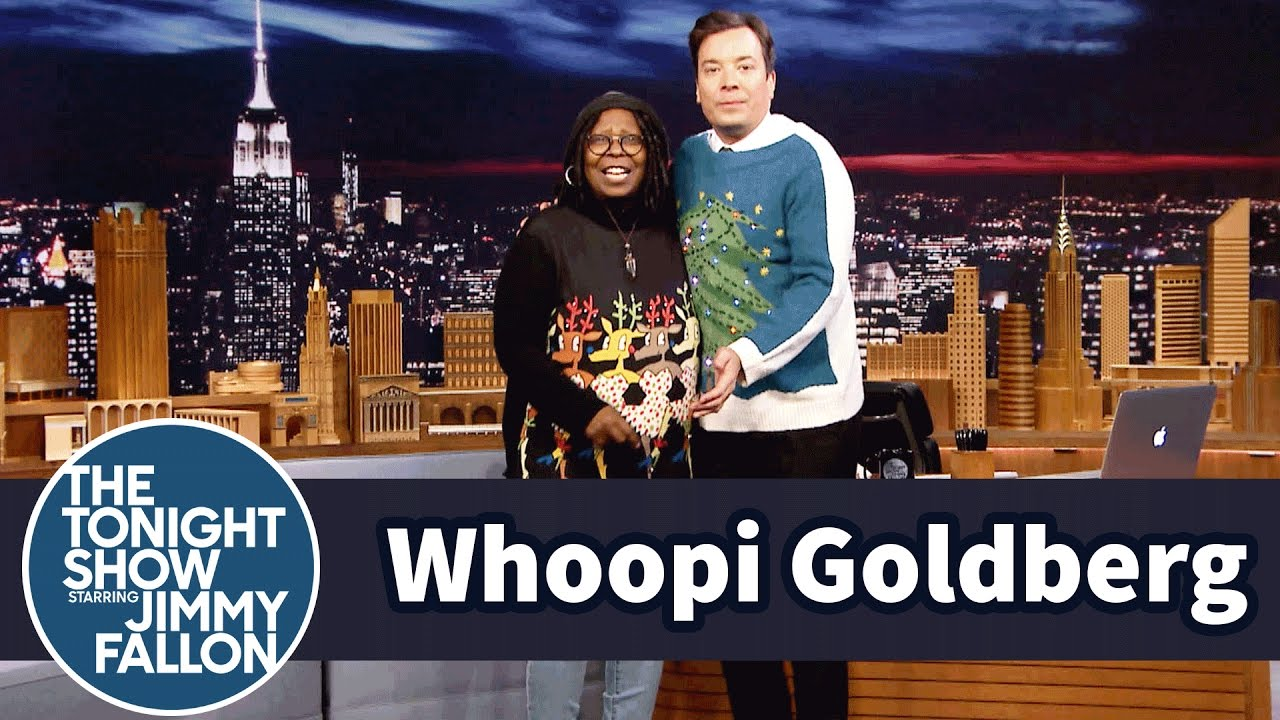 Whoopi Goldberg Has Jimmy Model Her Holiday Sweaters - YouTube