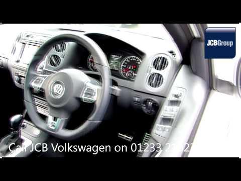 2014 Volkswagen Tiguan BlueMotion R Line 2l Candy White GK14KTJ for sale at JCB VW Ashford