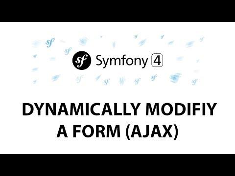Symfony 4 Beginners: Dynamically modify a form (AJAX)