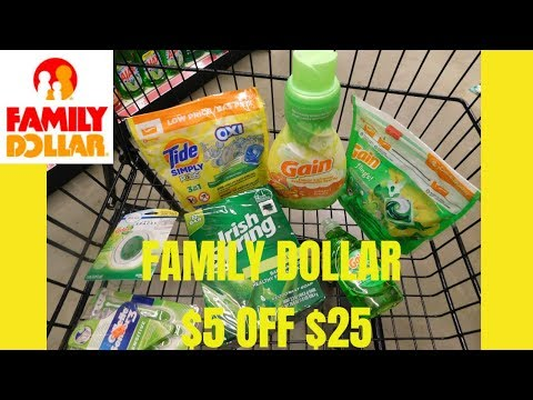 FAMILY DOLLAR $5 OFF $25| EASY DEALS| ONLY PAID $6.85 OOP!!!