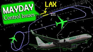 MasAir B767 has FLIGHT CONTROL ISSUES landing at LAX | Emergency Declared