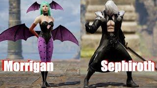 (Darkstalkers vs FF VII Karakter Oluşturma)6 Soul Calibur - Morrigan vs Sephiroth
