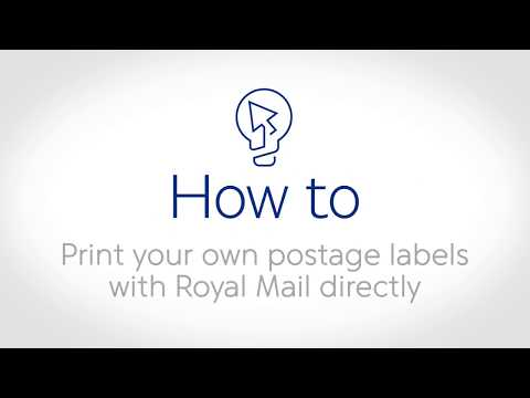 How to print your own postage labels with royal mail and for How to print your own labels