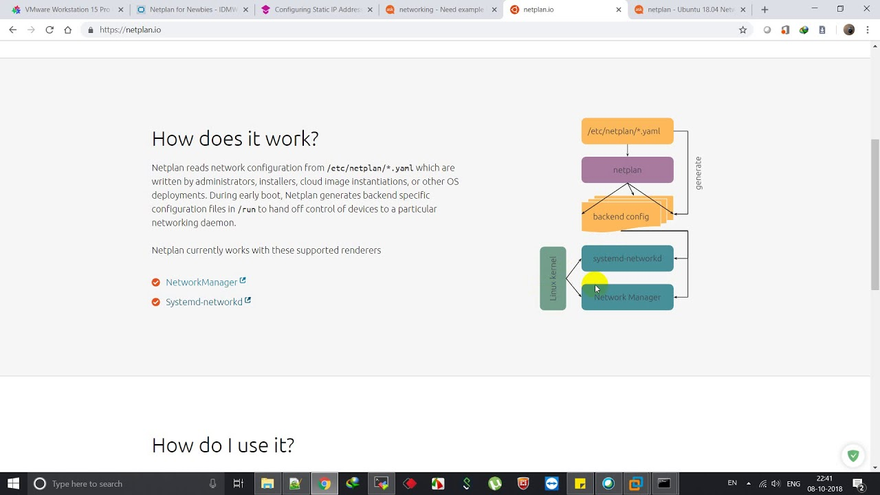 Ubuntu 18 04 LTS Network Configuration [Netplan] - Tamil