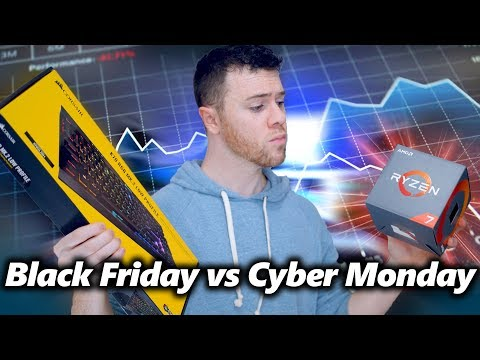 Better for Building a PC? Black Friday vs Cyber Monday Deals