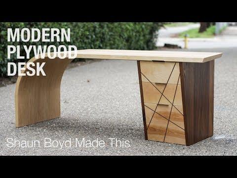 Building a MODERN Plywood Desk - Shaun Boyd Made This
