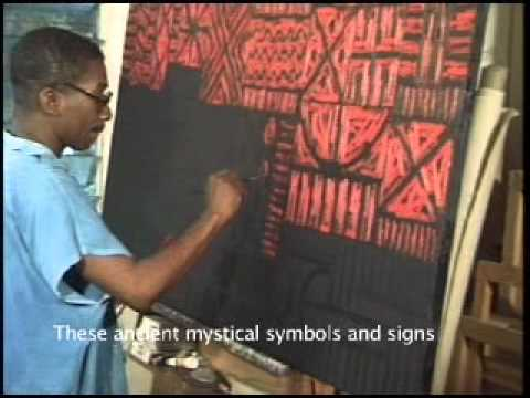 Profile of Rikki Wemega-Kwawu, African artist, African paintings