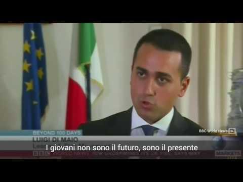 Luigi Di Maio intervistato dalla BBC