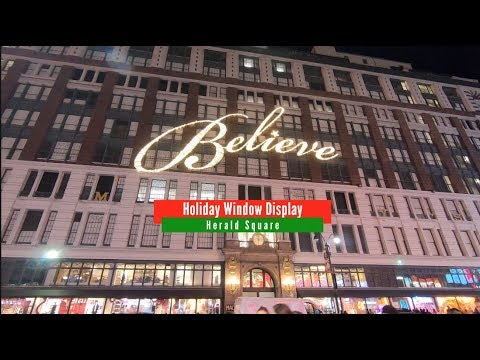 Macys 42nd Street Christmas Window 2020 Macy's Holiday Window Display in New York 2019   YouTube