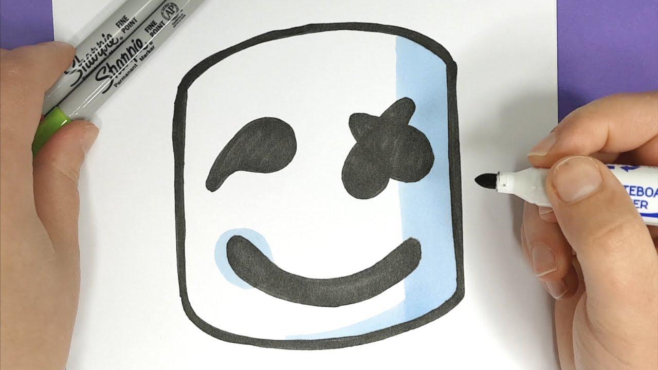 Kawaii Marshmello Zeichnen Einfach