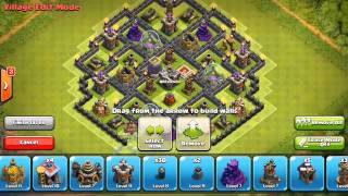 CLASH OF CLANS NEW TOWN HALL 8 AIR SWEEPER FARMING BASE | TH8 BASE + NEW AIR SWEEPER 2015!!!