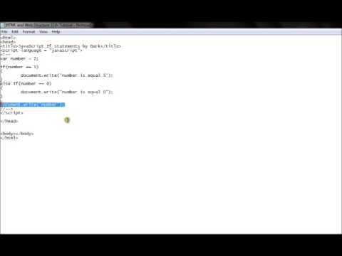 HTML 11th Tutorial JavaScript If Statements