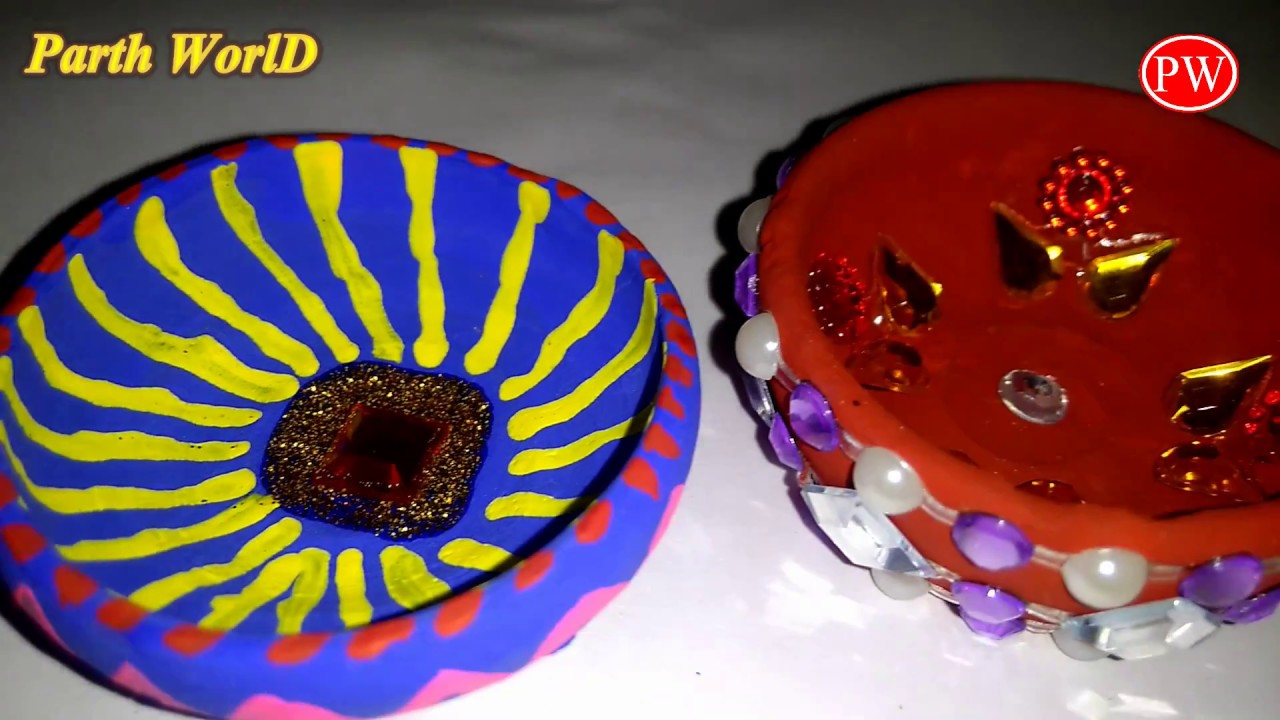 Happy Diwali Handmade Diya Making Idea For School Students Kids Diy