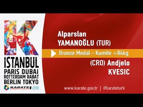 Alparslan Yamanoğlu (TUR) - Andjelo Kvesic (CRO) - Bronze Medal +84kg - Karate 1 İstanbul 2018