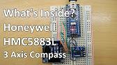 Digital Compass With HMC5883L using CVAVR (C Language) - YouTube