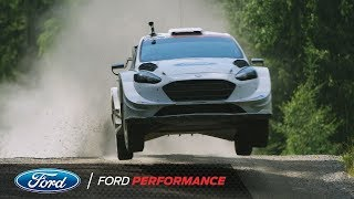 Ford Fiesta WRC On Rally Finland Ouninpohja Stage | Ford Performance