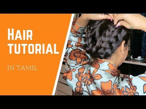 Hair Tutorial in Tamil | Vithya Hair and Makeup Artist