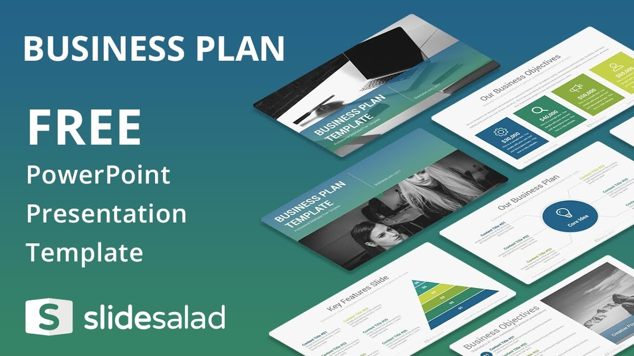Business Plan Free Powerpoint Template Design Slidesalad Youtube