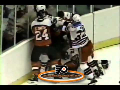 Oct 1, 1985 Bench Brawl Philadelphia Flyers vs New York Rangers PRESEASON