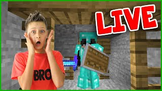 Going to the Nether in Hardcore Minecraft and NOT DYING!!! Live Stream