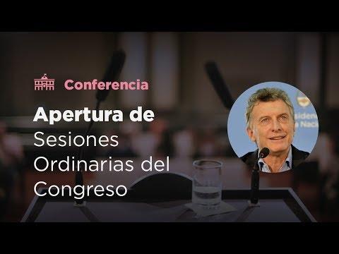 Apertura del 136° período de Sesiones Ordinarias del Congreso de la Nación