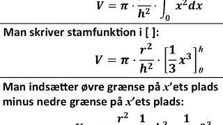 BEVIS keglens volumen formel