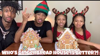 GINGERBREAD HOUSE DECORATING CHALLENGE!! FT THE TWINS | VLOGMAS