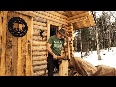 Traditional Woodworking: Finishing the Interior of a Log Cabin with Hand Tools, DIY