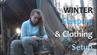 Bushcraft Winter Sleep System & Clothing Setup