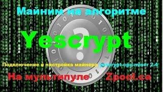 Yescrypt(Алгоритм) настройка и запуск майнинга на пуле Zpool ca