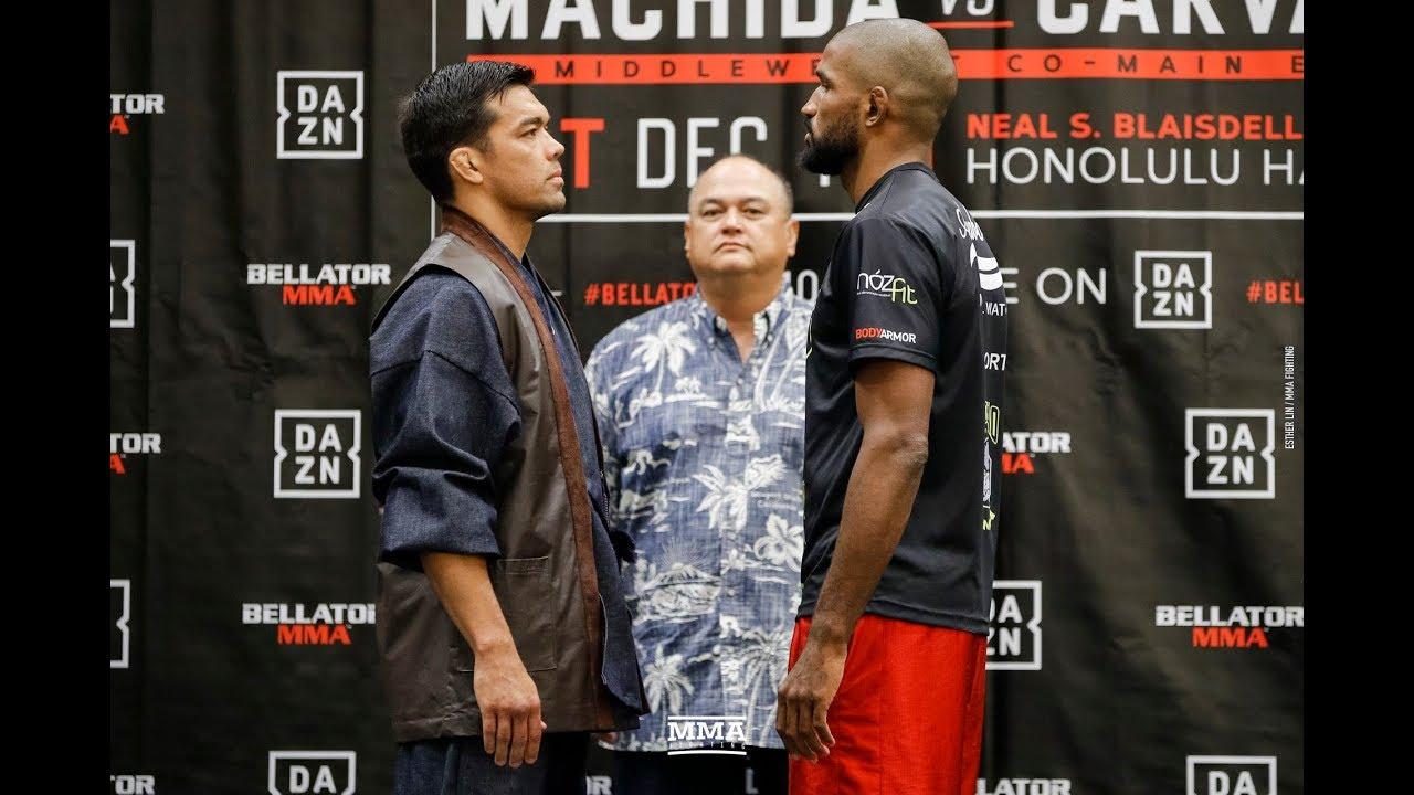 Bellator 213: Lyoto Machida vs. Rafael Carvalho Press Conference Staredown - MMA Fighting