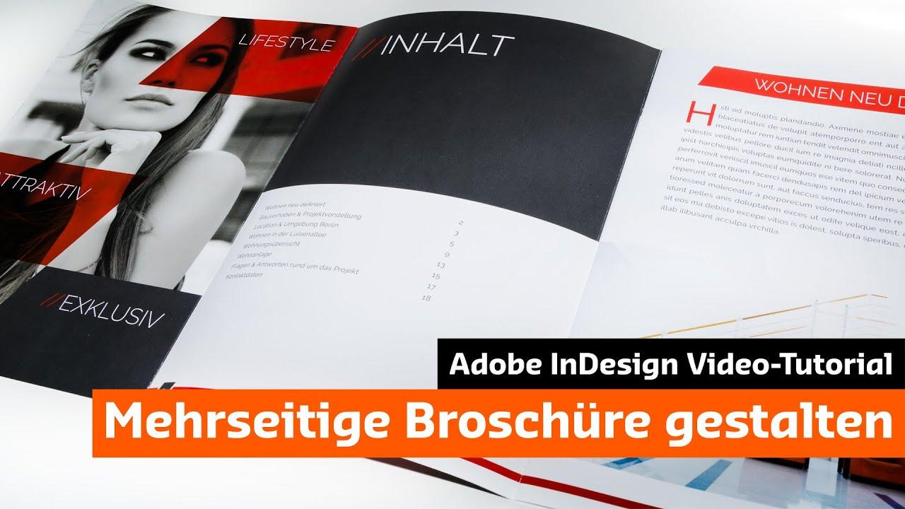 Eine moderne Broschüre mit InDesign gestalten (Tutorial + Unboxing ...