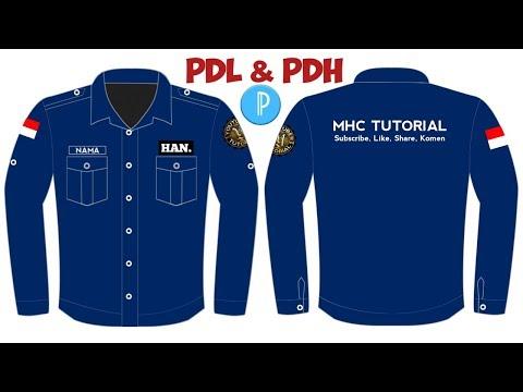 Cara Desain Baju Pdh Dan Pdl Di Hp Android Belakang Tutorialpixellab Youtube