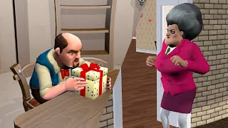Scary Teacher 3D Gift Prank Gameplay and animation |VMAni Funny|