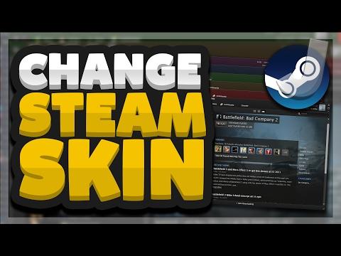 how to put a custom skin on steam