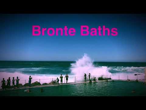 Bronte Baths, Bronte Beach time lapse of huge waves