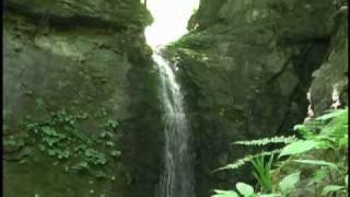 おしん淵の滝:落差約15m.