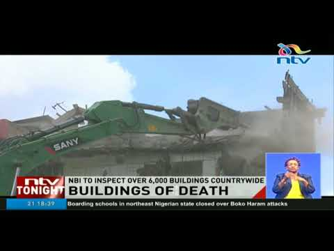 Ministry of Urban development blames Nairobi County government for approving faulty buildings