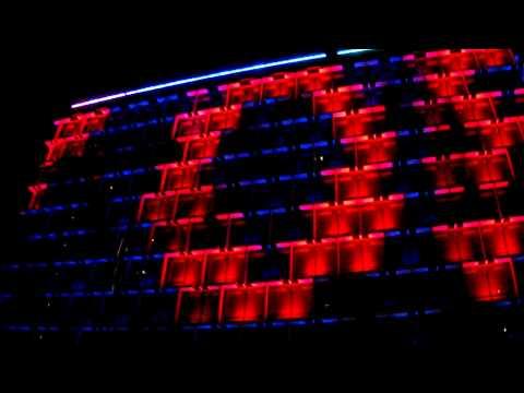 Perth City Council Building at night