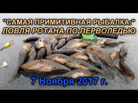 """""""Самая примитивная рыбалка:"""" Ловля ротана по перволедью 07/11/2017"""