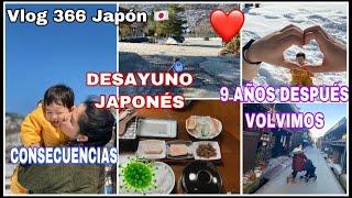 VLOG 366 TODO GRATIS PERO ES 😢 +  DESAYUNO JAPONES  + 9 AÑOS DESPUES VOLVIMOS 😁 + ENAMORADO