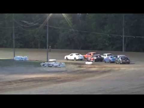 Four Cylinder Heat Race #1 at Mount Pleasant Speedway 08-19-16.