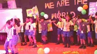 Children of K2 performing dance on We are the World song at  OIS - Nigdi, Pune