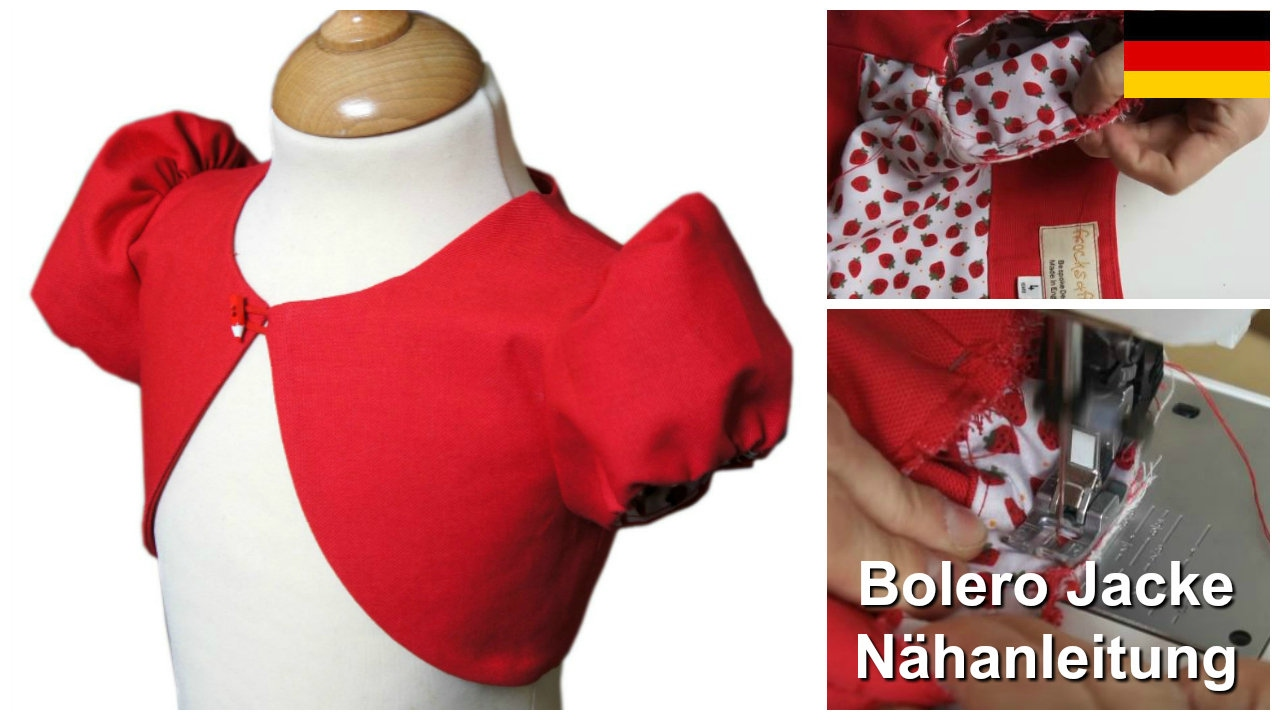 Wie man einen Bolero näht - Jacke für Mädchen - Nähanleitung - YouTube
