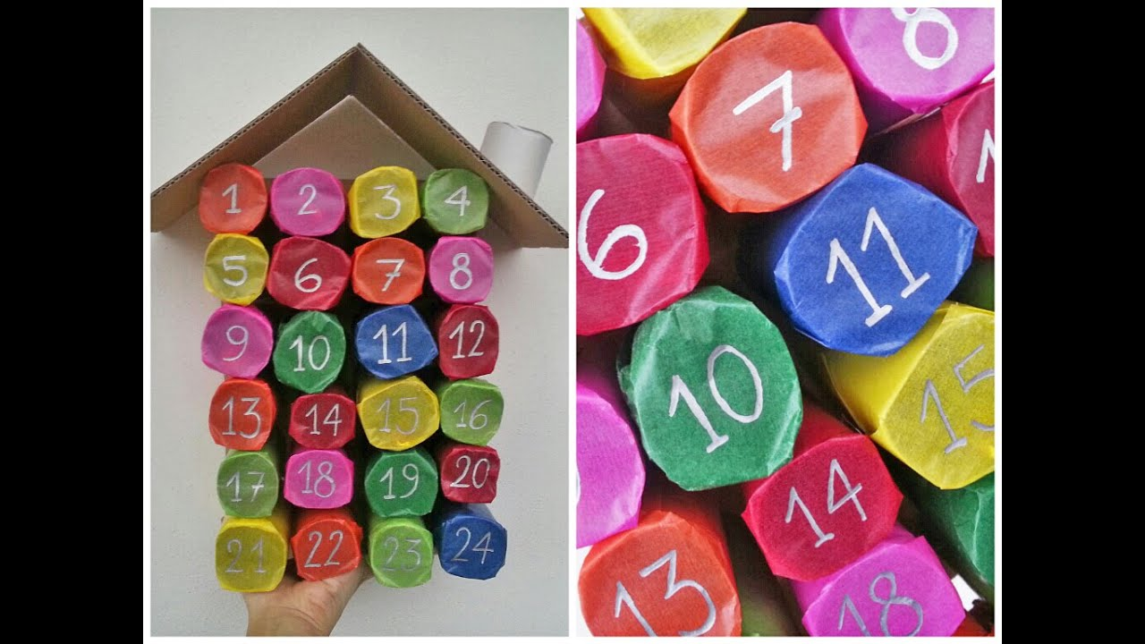 Calendario Avvento Con Rotoli Carta Igienica.Tutorial Calendario Dell Avvento Con I Rotoli Di Carta Igienica