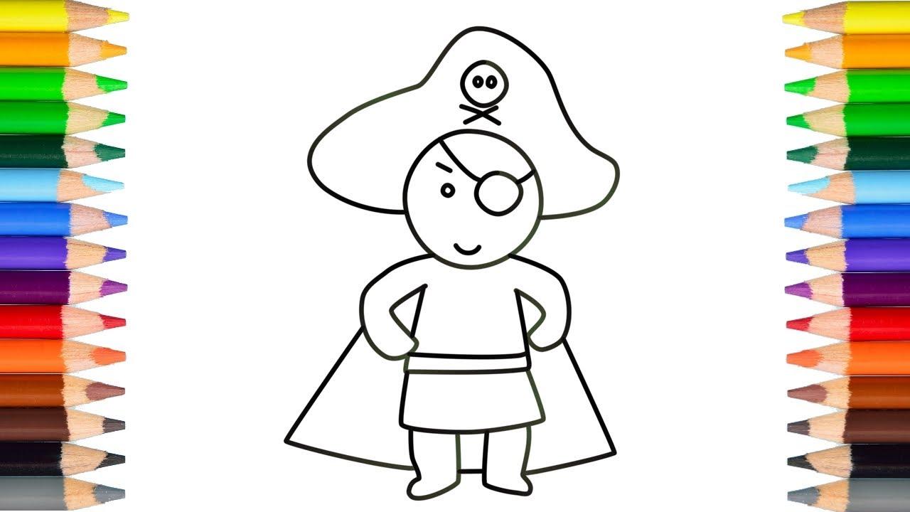een piraat tekenen simpel