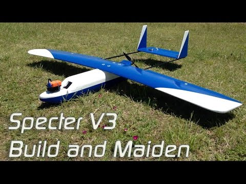 DIY XPS foam plane - Specter V3 montage and maiden