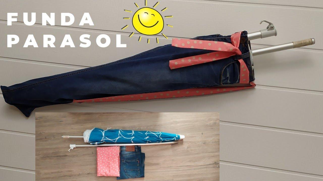Funda Parasol Hecha De Jeans Youtube